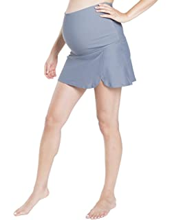 0641ba6906889 Oceanlily High Waist Over The Belly Maternity Swimwear Swim Skirt-Swim  Brief Attached