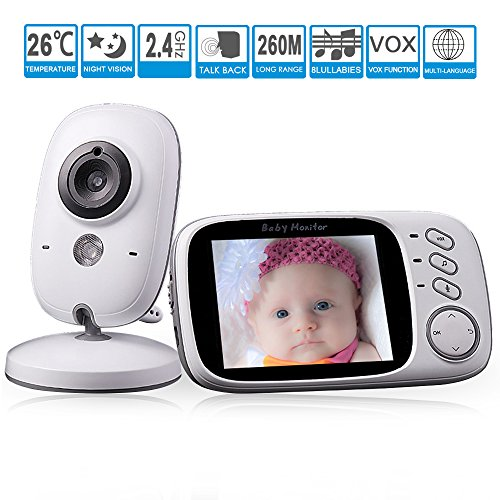 """GooDee Baby Video Monitor 3.2"""" LCD Baby Monitors with Camera"""