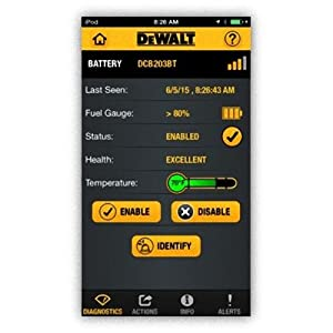 DEWALT DCB203BT-2 20V MAX 2Ah Compact Battery with Blue Tooth (2 Pack) (Color: blue)