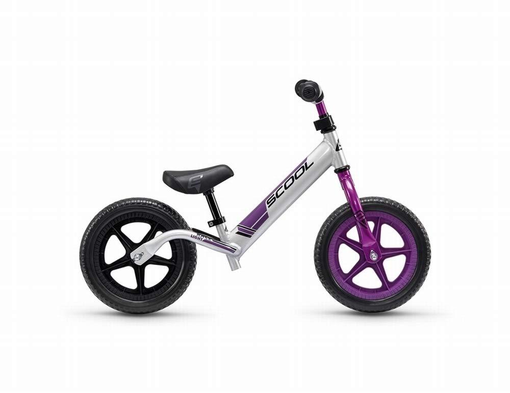 SCool pedeX race light Kinder Laufrad 2018 One Size, anodized silver//purple