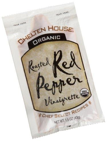 Chelten House Organic Roasted Red Pepper Vinaigrette, 1.5-Ounce Single Serve (Organic Roasted Peppers)