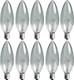 25 watt type b bulb - GE 74978 25-Watt Candelabra Light Bulb, Blunt Tip, 10-Pack