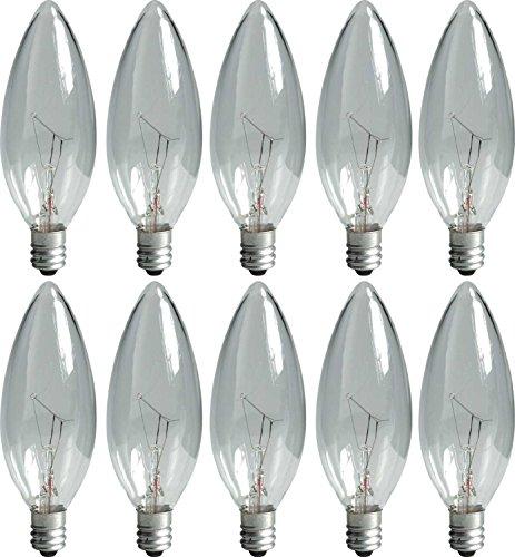 GE 74978 25-Watt Candelabra Light Bulb, Blunt Tip, 10-Pack (Tip Candelabra Blunt)