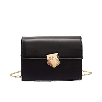 Female Stylish Simple Bags Crossbody Shoulder Bag Small Square Chain Bag BE