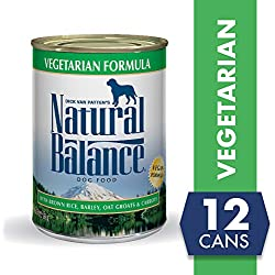 Natural Balance Vegetarian Formula Wet Dog Food, 13 Ounces (Pack of 12), Vegan