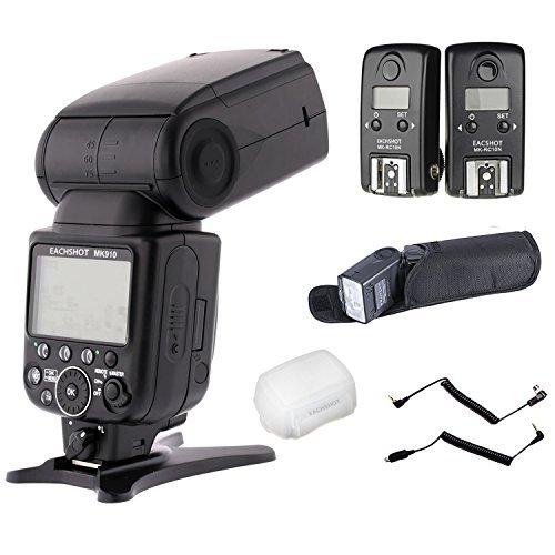 EACHSHOT { mk910 TTL HSSキット} 1 / 8000s LCD表示スピードライトマスター/スレーブフラッシュキットfor Nikon d3s d50 d60 d70 d70s d80 d80s d200 d300 d300s d700 d3000 d3100 d5000 d5100 d7000