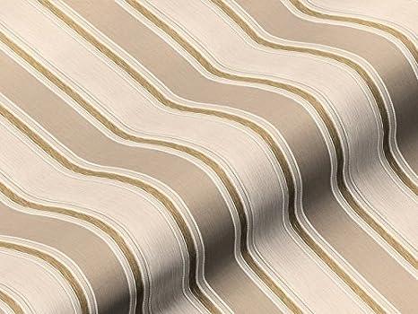 Tela de tapicería Eleganza rayas color beige, agua marina ...