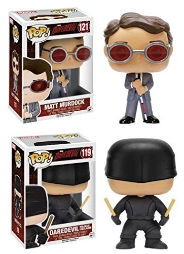 Funko POP! Daredevil: Matt Murdock + Masked Vigilante - Vinyl Figure Set NEW