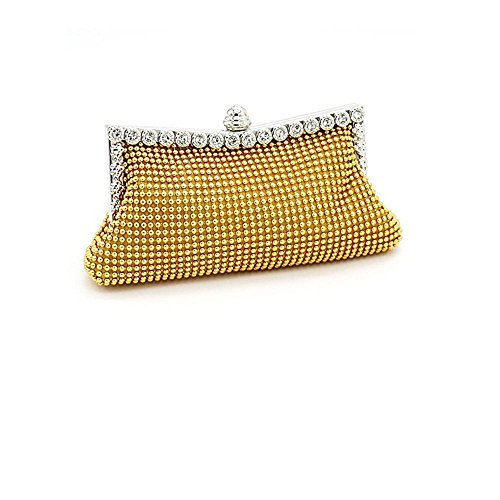 Patty Both Women's Aluminum Framed Clutch Bags Satin Inner Pearl Evening Bags ()