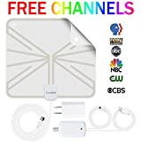 #4: TV Antenna Indoor Digital HDTV Antenna, Lxuemlu 50 Miles Rang HD Antenna with Detachable Amplifier Signal Booster and 13FT Coaxial Cable