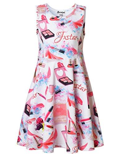 Price comparison product image Jxstar Big Girls Fashion Dress Makeup Printed Lipstick Concealer Pattern Sleeveless Dress Lipstick 150