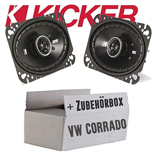 Einbauset f/ür VW Corrado Heck 10x16cm JUST SOUND best choice for caraudio Oval Koax Lautsprecher Kicker DSC460-4x6 Zoll
