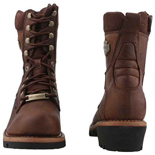 Harley Davidson Mens Tyson Leather Boots Brown
