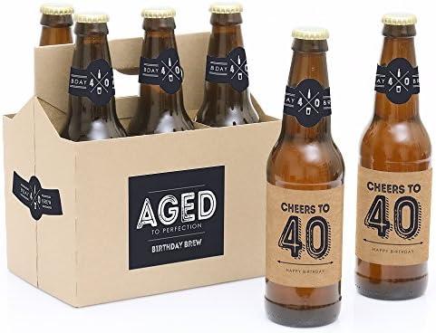 21st 18th 30TH 40TH 50TH Happy Birthday Charme Pour Bouteille De Vin Gin Bière Cadeau