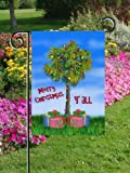 Tropical Palmetto Palm Tree Christmas Garden Flag