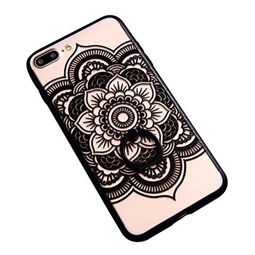 JAZ Compatible iPhone 7 Plus Case ,iPhone 8 Plus Case Ultra Thin Holder Ring Stand Case Cover With 360 Rotating Kickstand Shockproof Replacement for Apple iPhone 8 Plus/7 Plus - Sunflower
