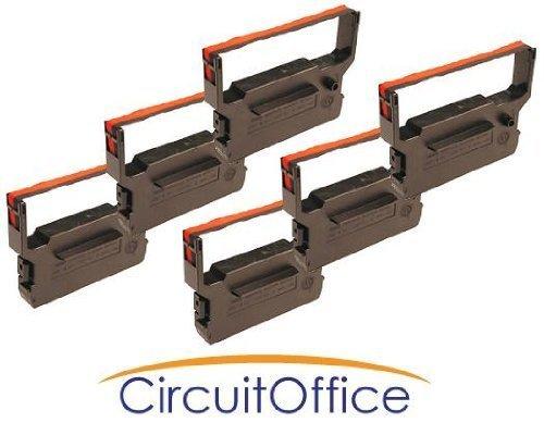 Compatible Citizen IR61B / R Black / Red Printer Ribbons, Works for CBM DP-600, CBM-710, CBM-715, CBM-720 ()