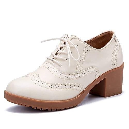 2bd918e875 YXX-Zapatos para mujer Zapato Oxford con tacón Recortado para la Oficina