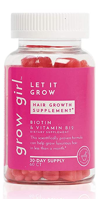 The Grow Girl Let It Grow Hair Growth Supplements With Biotin travel product recommended by Nikola Djordjevic on Pretty Progressive.