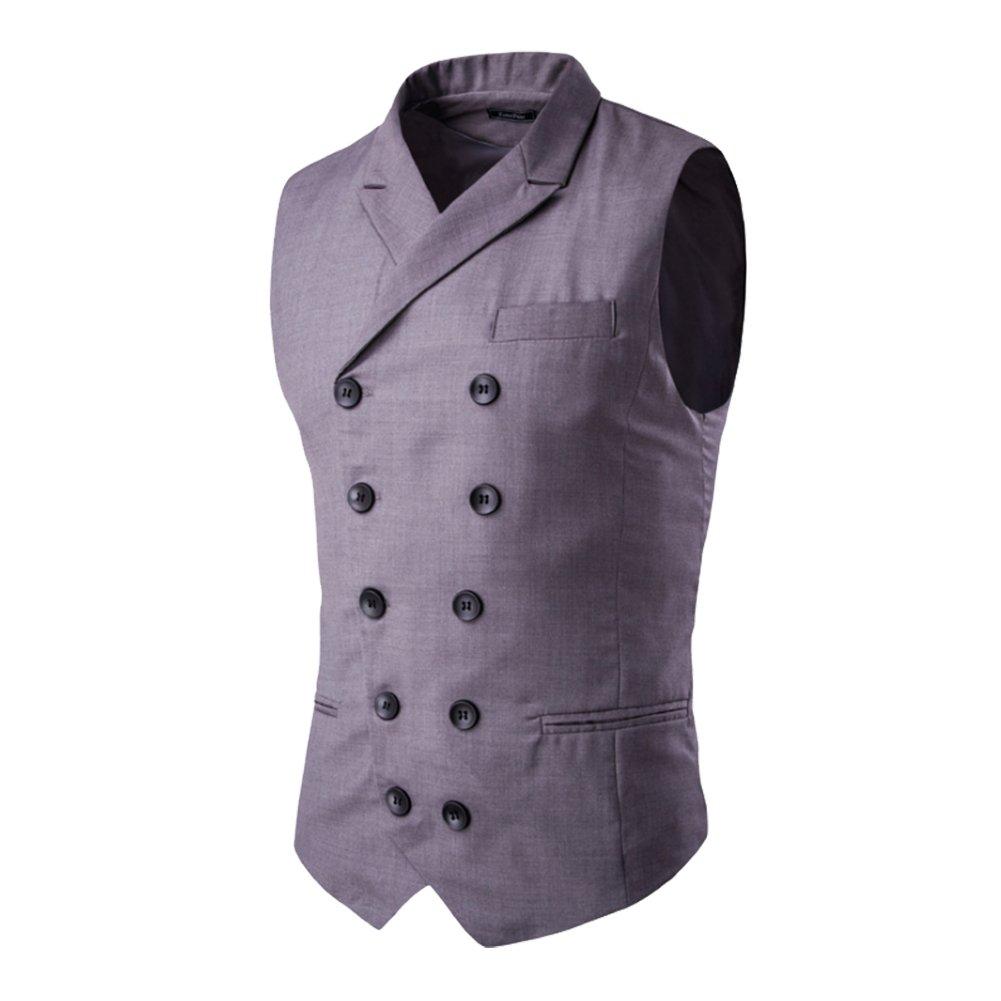 Bmeigo Mens Slim Fit Solid Plaid Collar Long Sleeve Dress Shirt H01