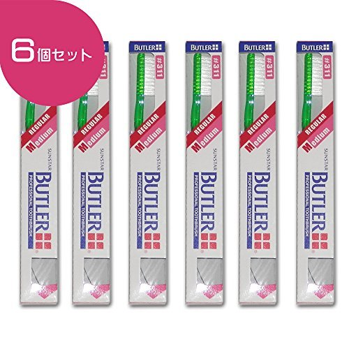 Butler Toothbrush 6 Count #311 (Made in Japan)