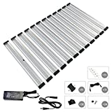 [New] EShine 12 Panels 12 inch LED Dimmable Under Cabinet Lighting Kit! Hand Wave Activated - Touchless Dimming Control - Bright, Strong and Stable - Easy to Install - Deluxe Kit, Warm White (3000K)