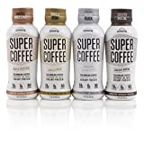 #2: SUNNIVA Super Coffee 4 Variety Pack NEW Sugar-Free Formula, 10g Protein, Lactose Free, Soy Free, Gluten Free (1 each of Vanilla Bean, Smooth Mocha, Maple Hazelnut, and Creamy Black)