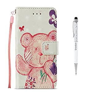 Huawei Mate 10 Pro Case,GrandoinR [3D Colorful Prints Series][Lifetime Warranty] Premium PU Leather Magnetic Flip Cover with Card Slots Holders & Hand Wrist Strap [Soft Silicone Inner] Bookstyle Wallet Case For Huawei Mate 10 Pro (Panda)