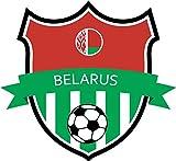 Belarus Flag National Soccer Team Home Decal Vinyl Sticker 13'' X 12''