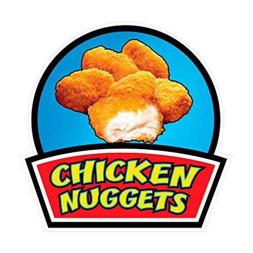 Die-Cut Sticker Multiple Sizes Chicken Nuggets Style B Restaurant & Food Chicken Nuggets Indoor Decal Concession Sign Light-Blue - 10in Longest Side