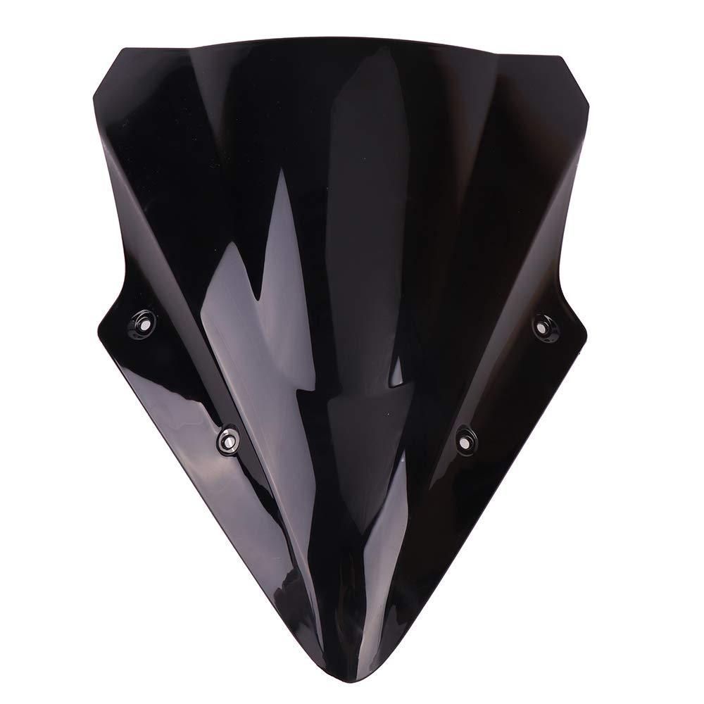 KEMIMOTO Motorcycle Black Windscreen Windshield For Kawasaki Ninja 650 Windshield ER6F 2012 2013 2014 2015 2016 2017