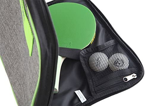 Padded Table Tennis Racket Cover Reinforced Padded Polyester Bag for 2 Ping Pong Bats Side Accessory Pocket for 8/Ó Tablets Killerspin Optima Ping Pong Paddle Carry Case Protective Zipper Enclosure
