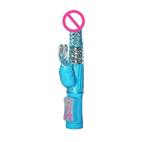 Cebbay Doble vibración vibrador Femenino-Doble Juguetes de estimulación Estimulador del clítoris Vibrador masajeador Juguetes sexuales para Adultos: ...