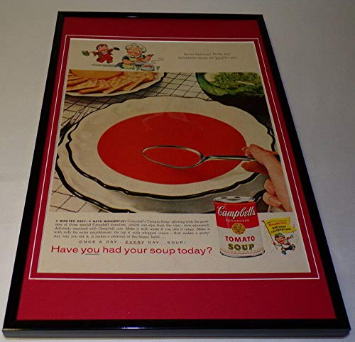 1958 Campbell's Tomato Soup Framed 11x17 ORIGINAL Vintage Advertising Poster B