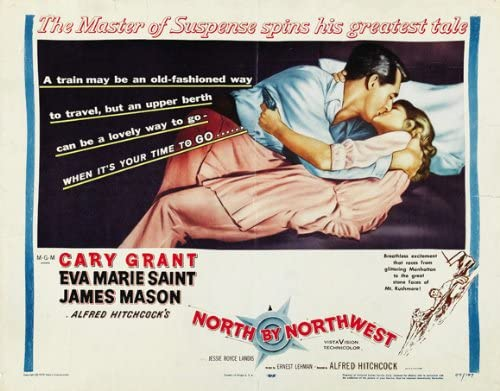 Image result for north by northwest train poster