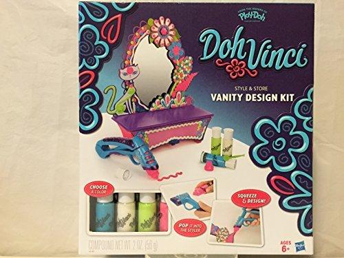 Play-Doh Doh Vinci Vanity Design Kit and Doh Vinci Deco Pop 4-pack (Doh Vinci Design Kit)