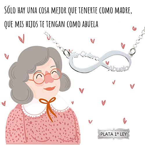 1f38efcdd2e8 Collar infinito Te Quiero Abuela Plata de Ley 925