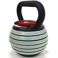 Focus Fitness Verstelbare kettlebell, wit/zwart/rood, 18 kg