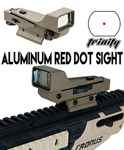 Dye Dam Paintball Gun Red Dot Sight Tan Color, Paintball Red Dot Sight , Aluminum Reflex Sight Tan for Paintball Guns, Tippmann Paintball, Bt Paintball, Spyder Paintball, Rap4 Paintball, Tiberius Arms, Trinity Paintball, Tan Color