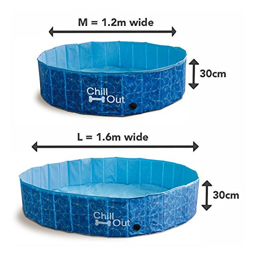 ALL FOR PAWS Outdoor Bathing Dog Pool Portable Pet Bath Tub Blue by ALL FOR PAWS (Image #1)