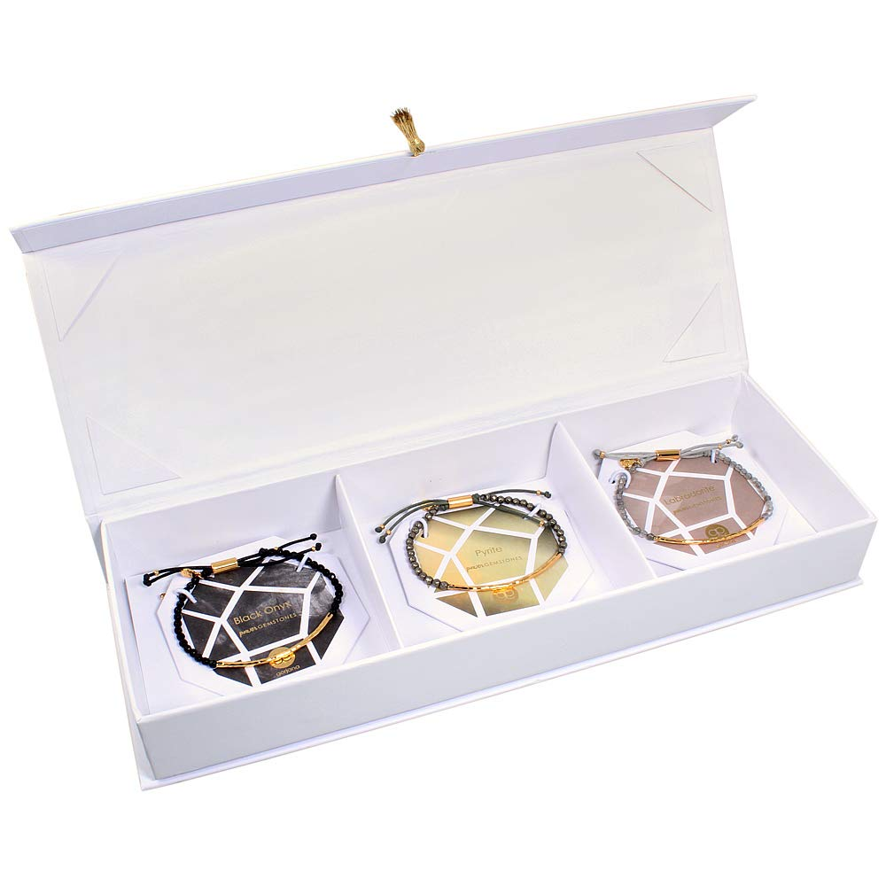 Gorjana Joshua Tree Power Gemstone Gold Bracelet Set of 3 GS1711221G by gorjana