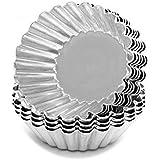 Prime Enterprises Aluminium Cup Cake Tart Moulds for Oven- Set of 6 Pieces