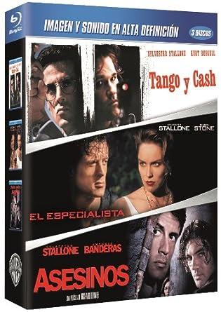 Pack: Tango Y Cash + El Especialista + Asesinos Blu-ray: Amazon.es: Silvester Stallone, Sharon Stone, Antonio Banderas, Andrei Konchalovsky, Luis Llosa, Richard Donner, Silvester Stallone, Sharon Stone, Larry J. Franco, Steve Barron,