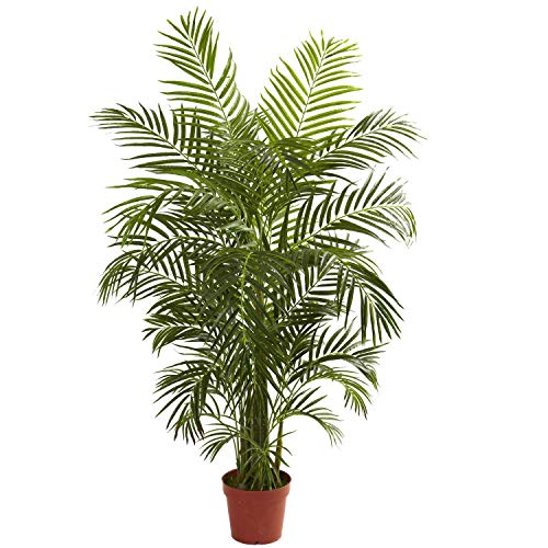 (MISC 4.5ft Areca Palm-Tree Tropical Artificial Golden Cane Palms Realistic Dypsis lutescens Greenery Tall Indoor Outdoor Decorative Feaux Plants UV Resistant 54in, Polyester Blend)