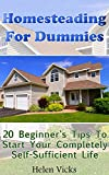 Homesteading For Dummies: 20 Beginner's Tips To Start Your Completely Self-Sufficient Life: (How to Build a Backyard Farm, Mini Farming Self-Sufficiency On 1/ 4 acre)