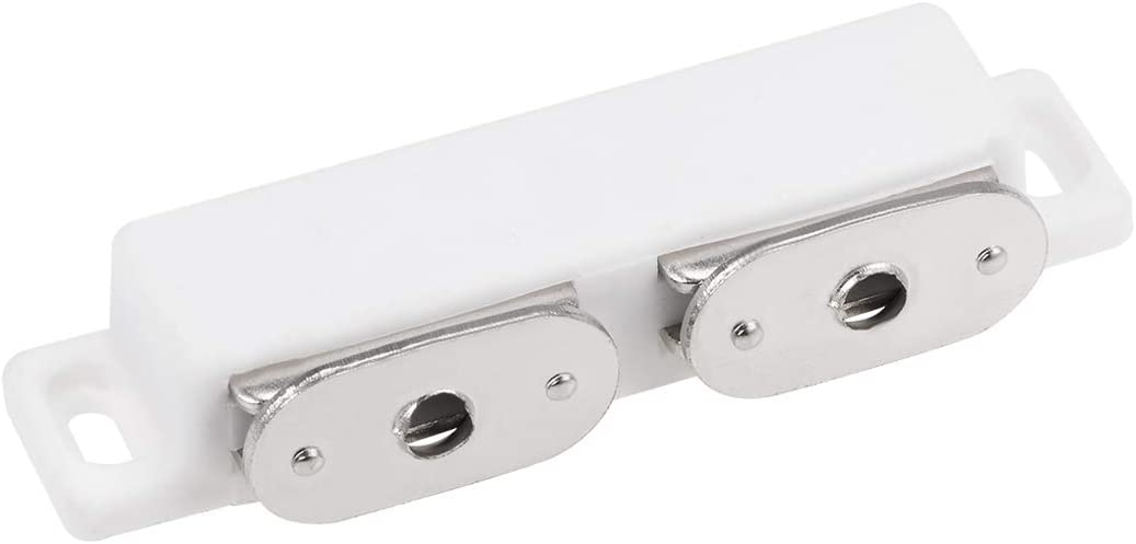 """uxcell Double Magnetic Catch Latch, Strong Magnetic Catch Latch Cabinet Closet Drawer Doors, 3"""" Long White"""