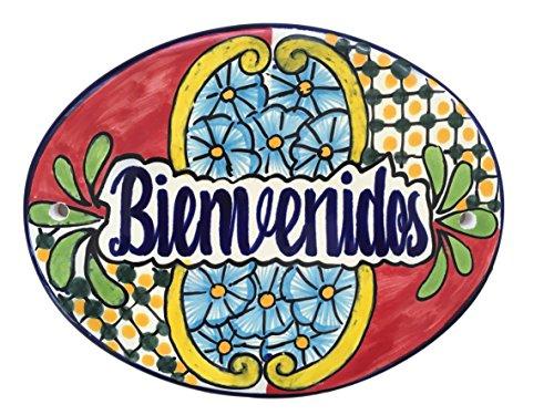 Casa Fiesta Designs Bienvenidos Talavera Ceramic Large Tile Sign - Handmade - 10