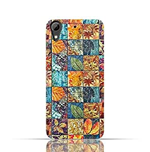 HTC 626 TPU Silicone Case with Old Handcraft Tile Pattern