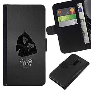 NEECELL GIFT forCITY // Billetera de cuero Caso Cubierta de protección Carcasa / Leather Wallet Case for LG G2 D800 // Nuestra es la furia