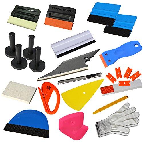 (Ehdis New Upgrade Vinyl Wrap Tools Set Kits Car Window Tint Film Applicator for Automotive Wrapping Decals DIY Interior)